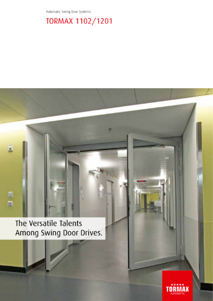 TORMAX 1201 + 1102 Automatic Swing Door Operators