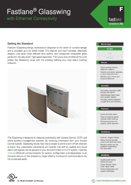 Fastlane Glasswing Range Data Sheet
