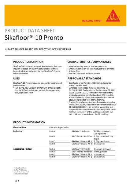 Sikafloor 10 Pronto