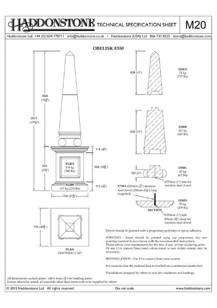 Obelisks - Technical Details