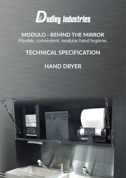 Behind the Mirror Hand Dryer