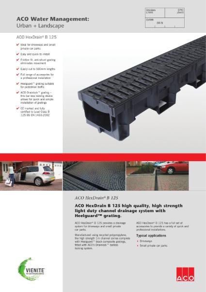 ACO HexDrain B 125 brochure
