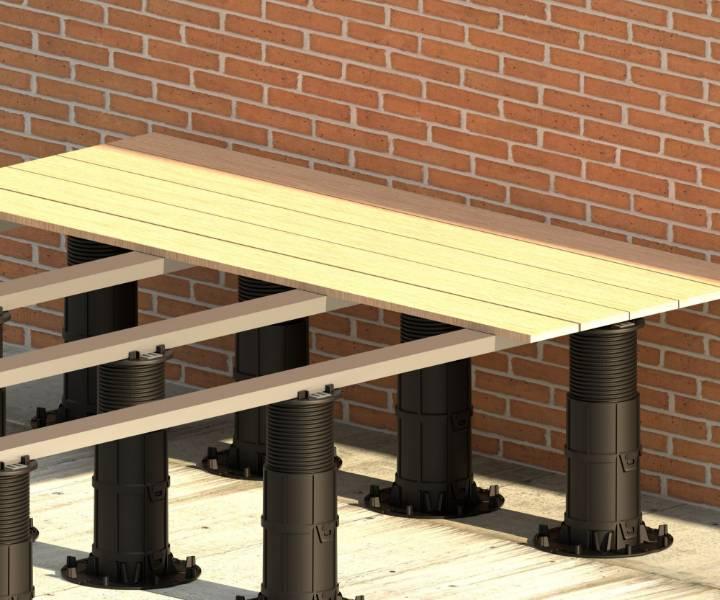 Mega Balance Heavy-duty Pedestals for Decking