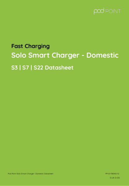Solo Smart Charger Domestic/Home Charging