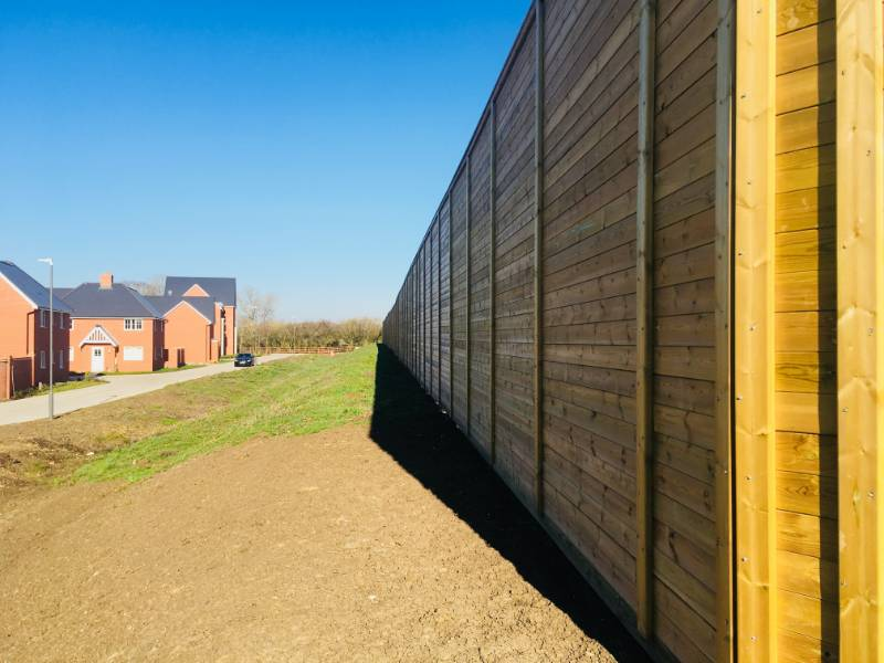 Britain's most wildlife-friendly housing development chooses Jacksons' Acoustic Fencing