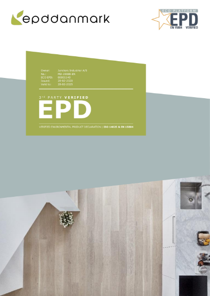 EPD - Junckers solid wood plank flooring
