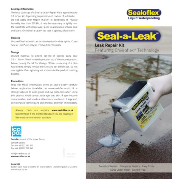 Icopal Seal-a-Leak Roof Leak Repair Kit with Enviroflex Liquid Applied Roofing Technology