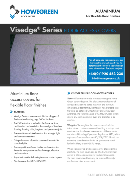 Visedge Series Flexible Floor Access Cover