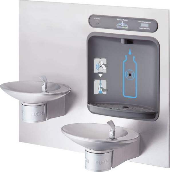 Architectural Style Bottle Filler / Drinking Fountain - Halsey Taylor HTHBWF-OVLSEBP-I