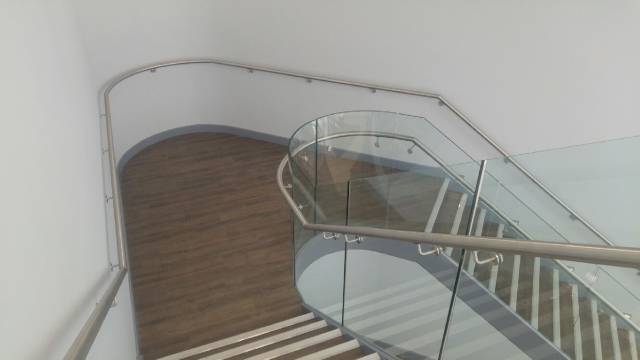 ASF Slim Channel Fixed Glass Balustrade