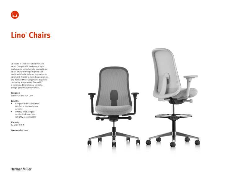 Lino Chair - Product Sheet