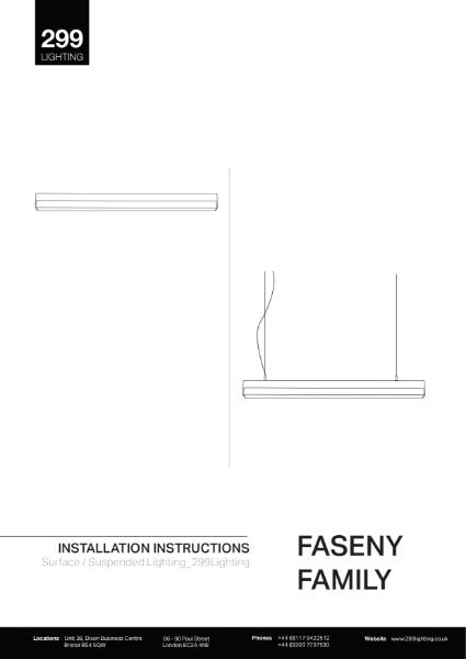 Faseny Surface Feature Lighting Installation Instruction