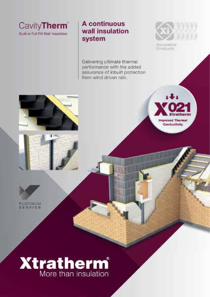 CavityTherm Built-in Full Fill Wall Insulation