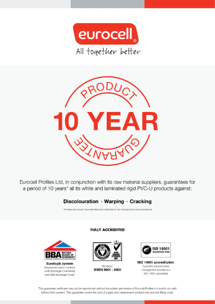 Profiles 10 Year Product Guarantee