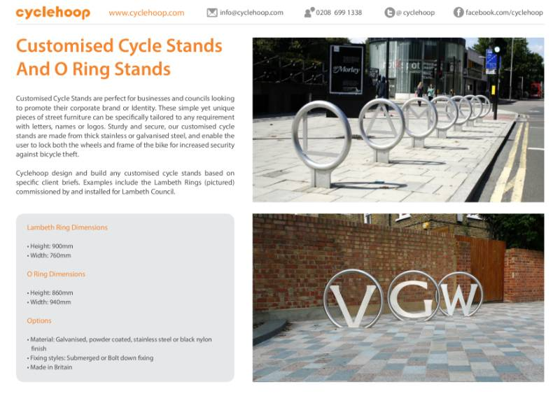 Customised Cycle Stands and O Rings