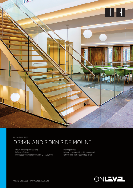 OnLevel 3kN Frameless Glass Balustrading System TL30