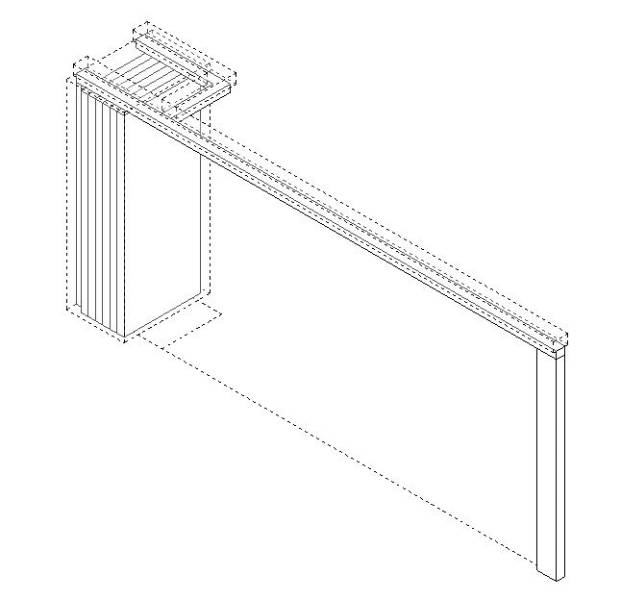 Operable Partition (Moving Wall) with Perpendicular Stack