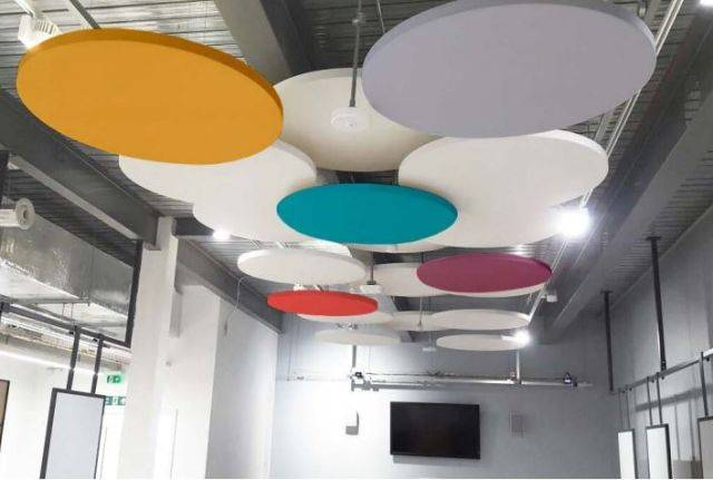 Fabric Wrapped Acoustic Ceiling Rafts