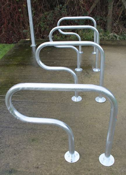 Rugby Cycle Stand - Galvanized Steel