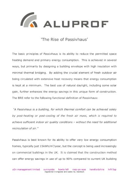 The rise of passivhaus