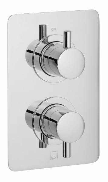 DX Celsius 1 Outlet, 2 Handle Concealed Thermostatic Valve