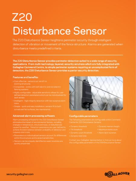Z20 disturbance sensor