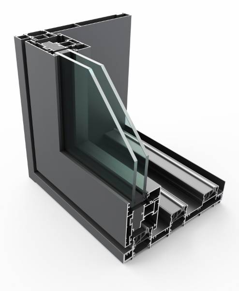 PURe® SLIDE Inline Slide Door System Single Track- OOX