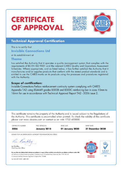 CARES Technical Approval Certificate Ferbox