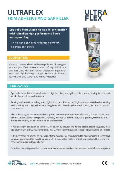 Ultraflex - Trim Adhesive and Gap Filler