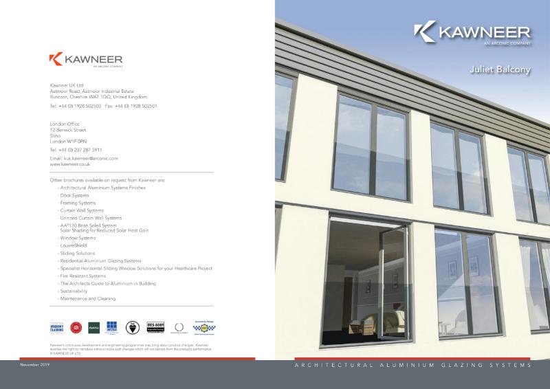 Kawneer Juliet Balcony Brochure