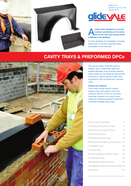 Glidevale Protect Cavity trays and Preformed DPC's