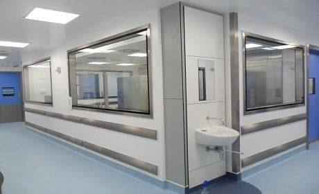 Internal GRP Cleanroom Windows