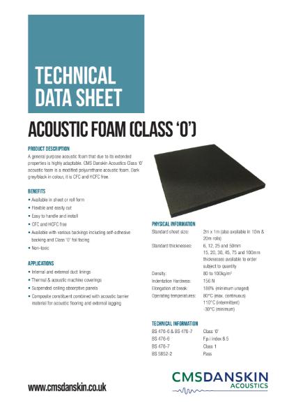 CMS Danskin Acoustics PUNF Class 0 TDS