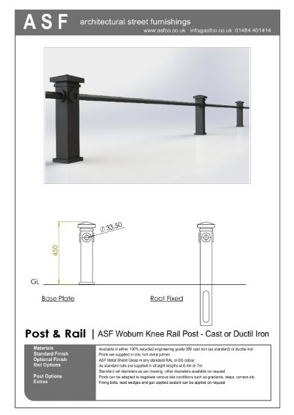 ASF Woburn Knee Rail Post