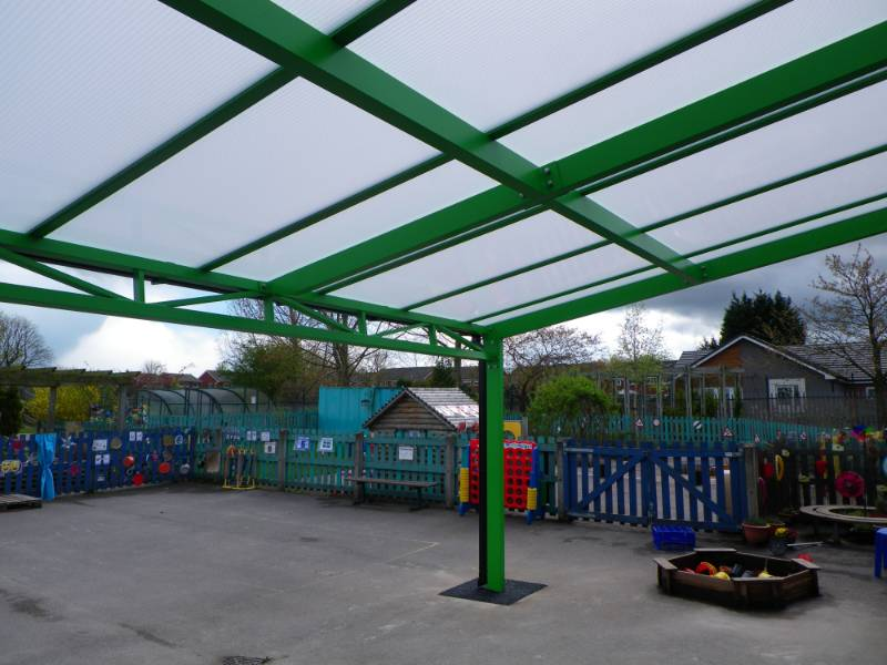 Free Standing Mono Pitch - Portal Frame and Lattice Beams