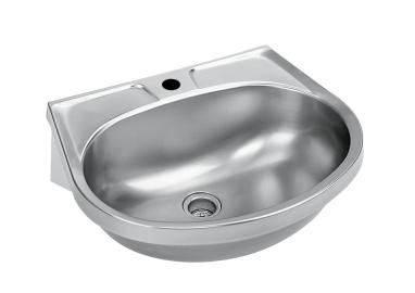 Hand washbasin with overflow