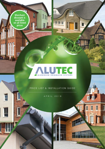 Alutec Price List and Installation Guide April 2019