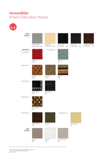 Scissor Chair - Colour Choices
