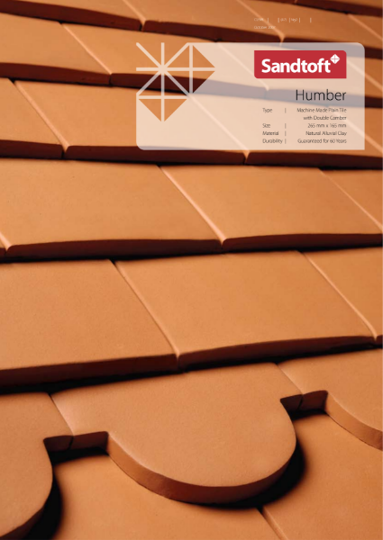 Humber Machine Made Plain Tile with Double Camber