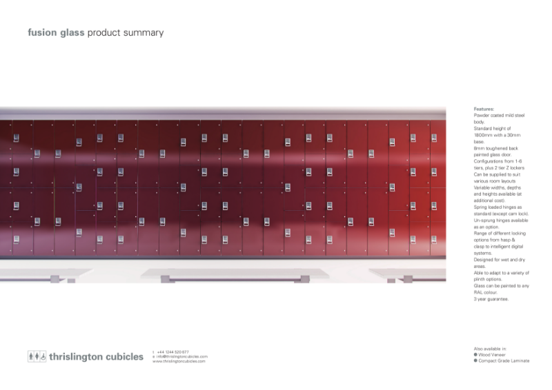 Thrislington Product Summary - Fusion Lockers