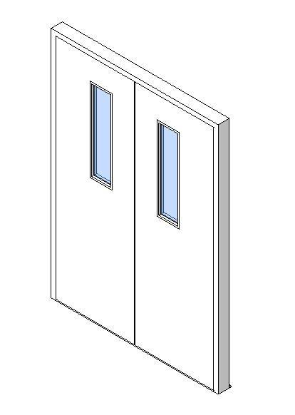 External Double Door, Vision Panel Style VP01