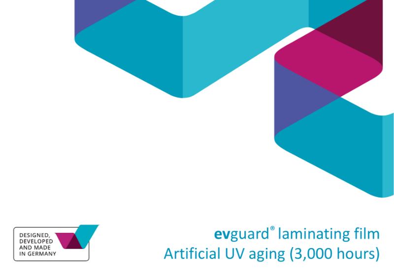 evguard® laminating interlayers - Artificial UV aging (3,000 hours)