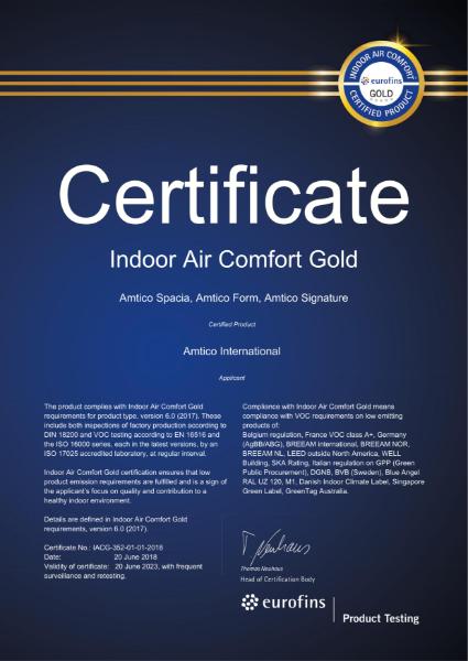 IAC Gold Certificate