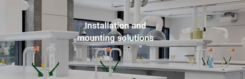 Installation and mounting solutions in laboratories