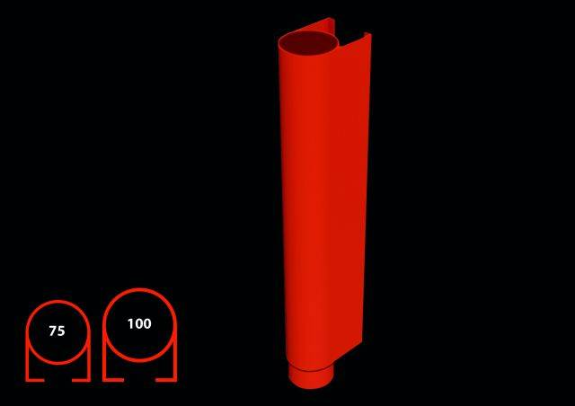 100 mm round security downpipe
