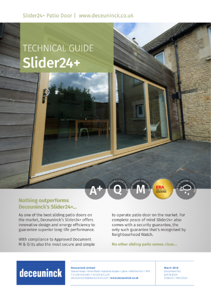 07. Slider24+ Sliding Patio Door Datasheet