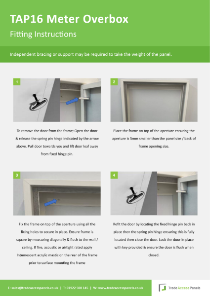 TAP16 Fitting Instructions