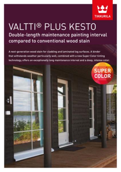 Valtti Plus Kesto Woodstain Brochure