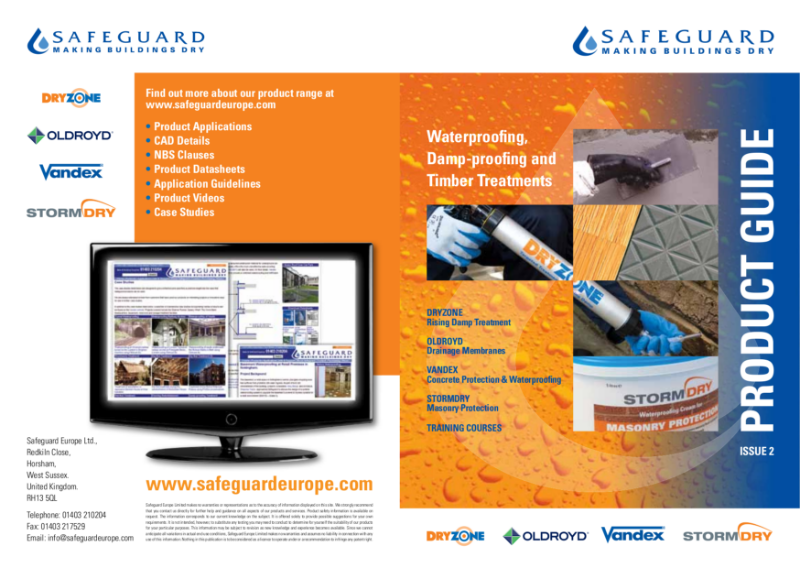 Damp-proofing, Waterproofing & Timber Treatment Product Guide