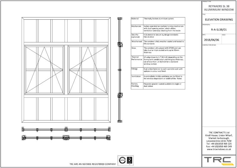 Reynaers Ultra Slim SL38 Window and Door System